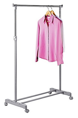 Adjustable Chrome Plated Clothes Rail Grey RRP 8.99 lot GD 8752714
