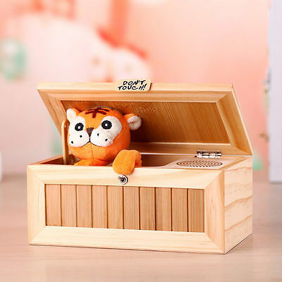 Hot Creative Useless Box Leave Me Alone Toys Gifts Machine Don't Touch Tiger