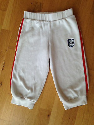 Girls Adidas TEAM GB Cropped Joggers Jogging Trousers - White - age 9-10 OLYMPIC