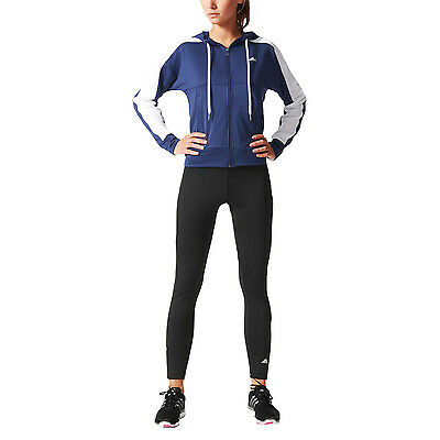 adidas Performance Womens Tight Full Tracksuit Pants Track Top