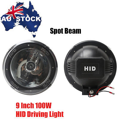 2PCS 100W 9INCH HID XENON Working Lamps Driving Lights Lamp Offroad Spot Beam
