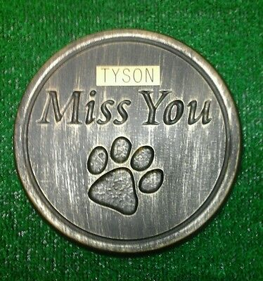 Dog or cat xl Large Pet Memorial/stone/grave marker/memorial with plaque laminat