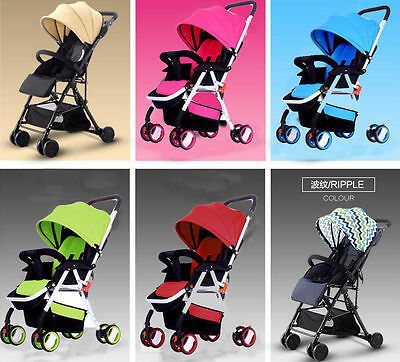 Newborn Boy Girls 4 Wheels Aluminium Baby Kids Toddler Pram Stroller Jogger