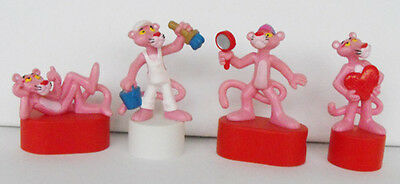 RARE PINK PANTHER lot of 4 pvc figures pencilsharpeners '80's L@@K