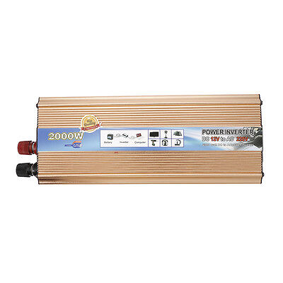 2000W Modified Sine Wave Inverter Power Converter DC12V to AC220V For Electronic
