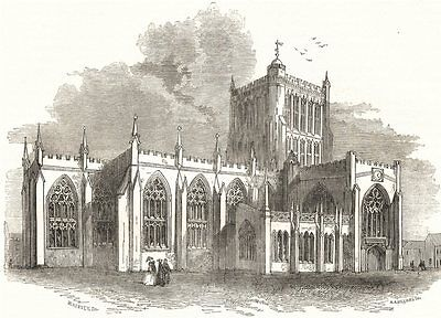 BRISTOL. The Cathedral 1850 old antique vintage print picture