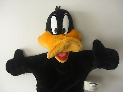 Daffy Duck Plush Hand Puppet Looney Tunes Warner Brothers Modern Collectable