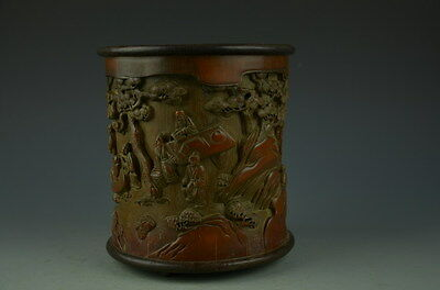 Gorgeous Chinese Carved Bamboo Brush Pot