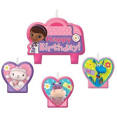 Doc Mcstuffins Birthday Party Candles - Set of 4