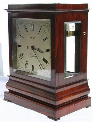 Edward John Dent Rosewood 5 Glass Double Fusee Bracket Clock Watch Video