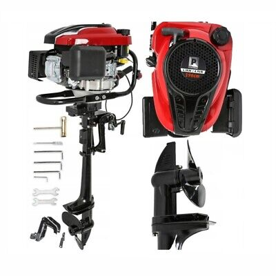 New 6.5Hp Outboard Engine 4 Stroke Motor Boat Inflatable Fishing 196Cc Strong
