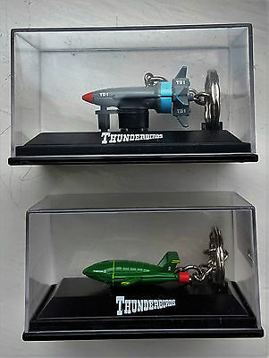 THUNDERBIRDS TB2 Aircraft Carrier and TB1 Rocket Ship Enamel 3D Keyrings