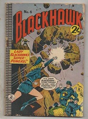 BLACKHAWK  No 6  BY COLOUR COMICS  VG  CONDITION