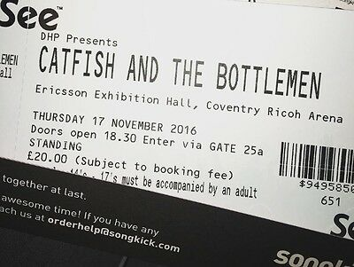 2 Standing Catfish And The Bottlemen Tickets.