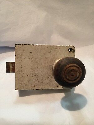 Vintage Door Latch & Wooden Handle