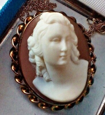 Super  High  Profile  Cameo, Full Face Portrait Of A  Beautiful Woman  Mint Cond