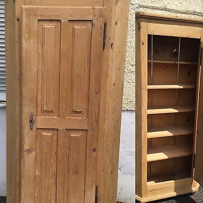 Subtle Chic Antique Pine Large Cupboard Cafe Shop Kitchen Country Life Armoire