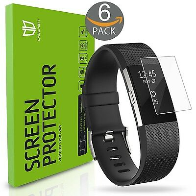 Fitbit Charge 2 Screen Protector [6-Pack] DEGBIT [NO-Peeling off] [Full Cover...