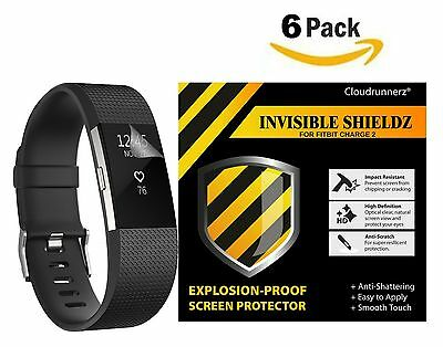 Fitbit Charge 2 Screen Protector (6-Pack) Cloudrunnerz Premium Clear Shatterp...