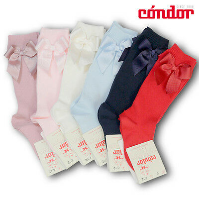 Traditional Spanish Condor knee high socks with bows in various colours & sizes!