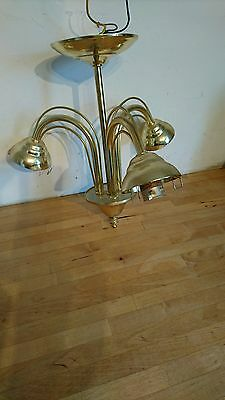 A Pool Lighting Ltd BB177BY Ceiling Light Vintage Brass Model No 430/6353D