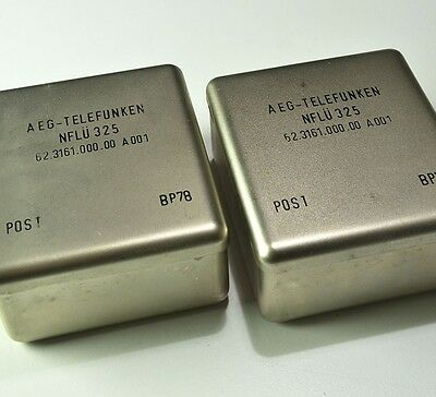 Pair of massive Telefunken line transformers, 2lbs each!   Great for analogizing