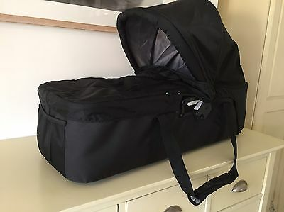 Baby Jogger Compact Carrycot Black With Adapters.