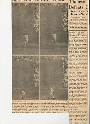 """1954 Vintage Newspaper Clipping! Willie Mays """"the Catch"""" And Comic Books - Look!"""