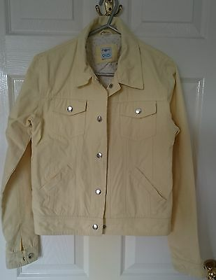 New Look, Pale Yellow Denim Type Jacket,  Size 152 - 158 (13 Years) VGC