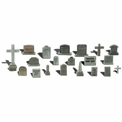 Painted Tombstones (OO/HO figures x 20) Woodland Scenics A1856 - free post