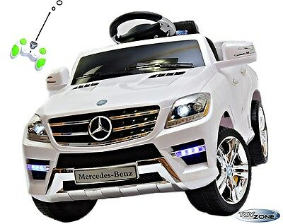 Kinderfahrzeug Mercedes-Benz ML 350 SUV Kinder Elektro Auto 2xMotoren Mp3 LED RC