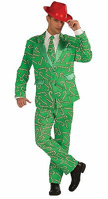 Christmas / Halloween LifeSize CANDY CANE SUIT Adult Men Costume Standard Size