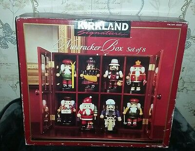 KIRKLAND XMAS Wooden Nutcrackers Soldiers Decorations display cabinet vintage