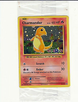 New 2016 CHARMANDER Toys R Us Exclusive Holo Promo Card SEALED XY12 Evolutions.