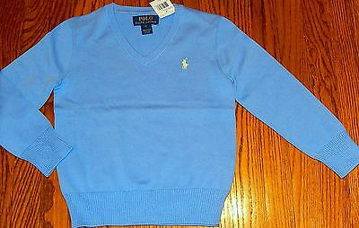 POLO RALPH LAUREN AUTHENTIC BOYS SWEATER BRAND NEW BLUE PULLOVER Size 6T, NWT