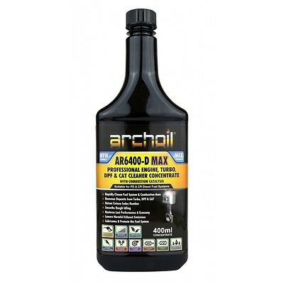 Archoil AR6400-D MAX Pro Diesel Engine, Turbo, DPF Cleaner Concentrate 400ml