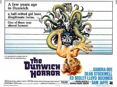 """The Dunwich Horror 16"""" x 12"""" Reproduction Movie Poster Photograph"""
