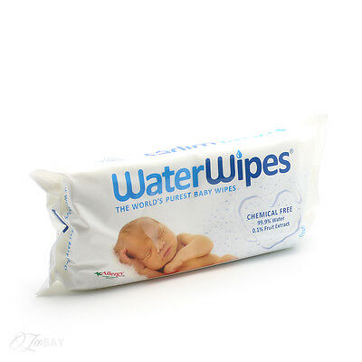 New WaterWipes Purest Baby 60 Wipes