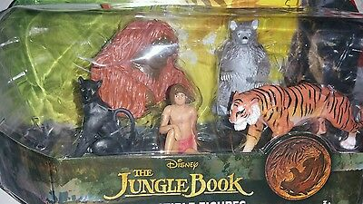 New Disney's The Jungle Book Collectible Figures Play Set cake toppers 5 pcs