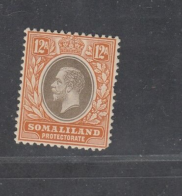 """£1.49  - A MINT """"SOMALILAND PROTECTORATE"""" 12a issue SG81 (1921)."""