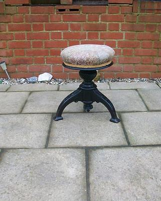 VICTORIAN ARTS & CRAFTS AESTHETIC SWIVEL TOP PIANO STOOL - Adjustable Height -