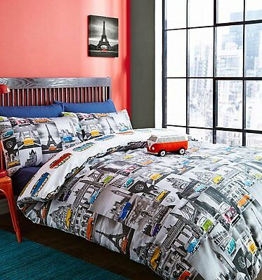 Official Double Volkswagen City Duvet Cover Set from Ashley Wilde