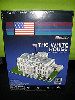 3D Puzzle The White House Weißes Haus in Washington USA Cubic Fun Gebäude