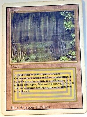 Bayou, Revised, 3rd, Magic the Gathering, Light Play Rare Dual Land #2 of 3