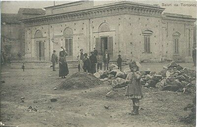 Tortorici Messina - Casino dei Civili - Viaggiata 1915 Animata