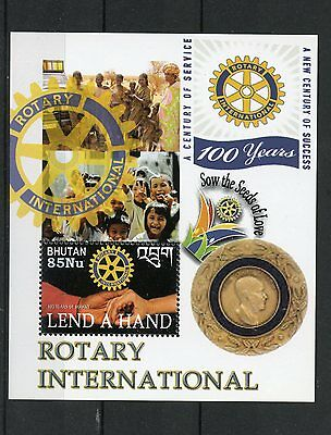 Bhutan 2005 MNH Rotary International 100 Years Lend a Hand 1v S/S Stamps