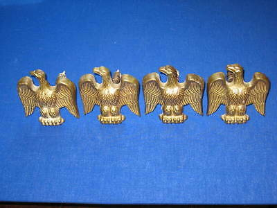 Lot of 4 Vintage Brass EAGLE Drape Drapery Curtain Tie Backs Pins 40400