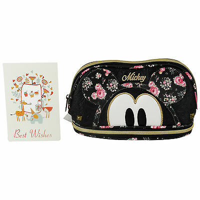 Disney Mickey Mouse Bouquet Pochette Maquillage Make-Up Beauty Vanity Case