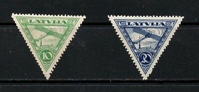 Latvia 1921 Air Mail Issue  SG.84/85 Mint (Hinged) Set of 2