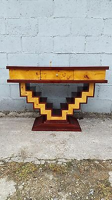 Stunning, Walnut, Rosewood, Art Deco Console Table, Rare, Antique, Vintage